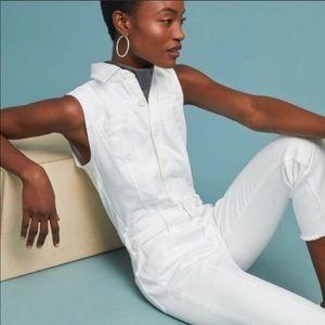 Pilcro and the Letterpress White Jumpsuit - Size 2